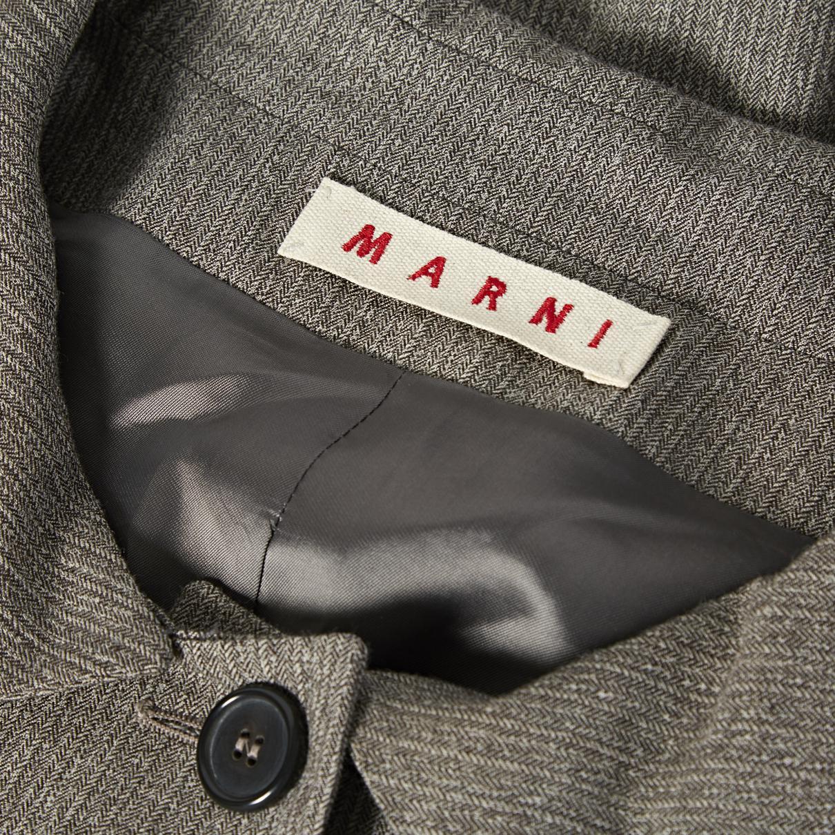 Veste courte en laine Laines Marni en coloris Marron