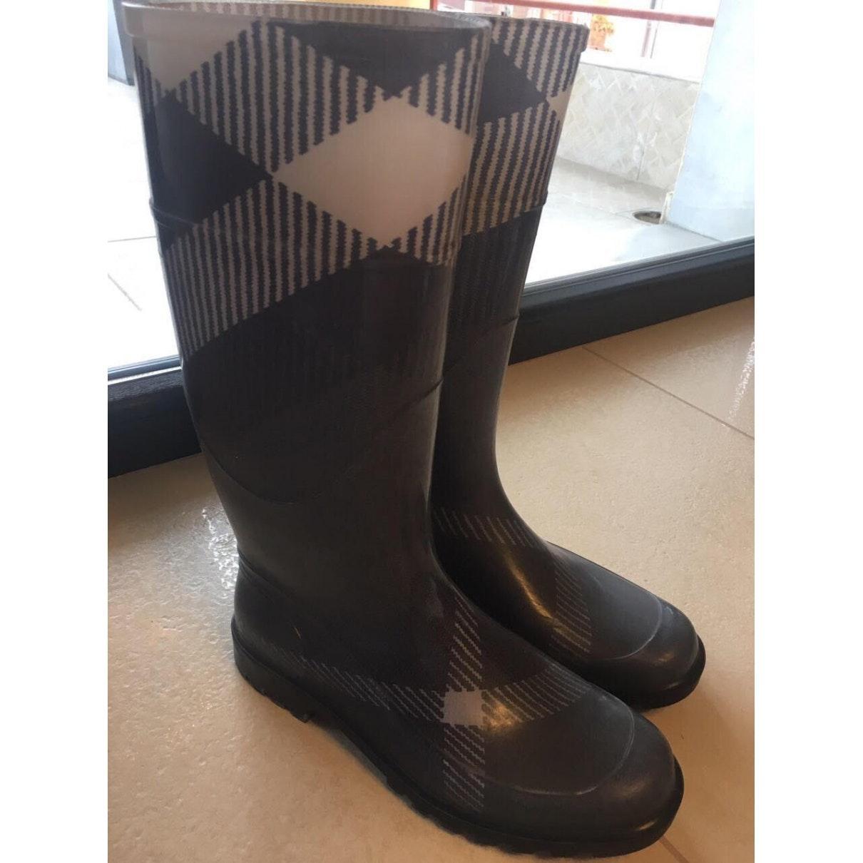 Botas en caucho gris Burberry de Caucho de color Gris