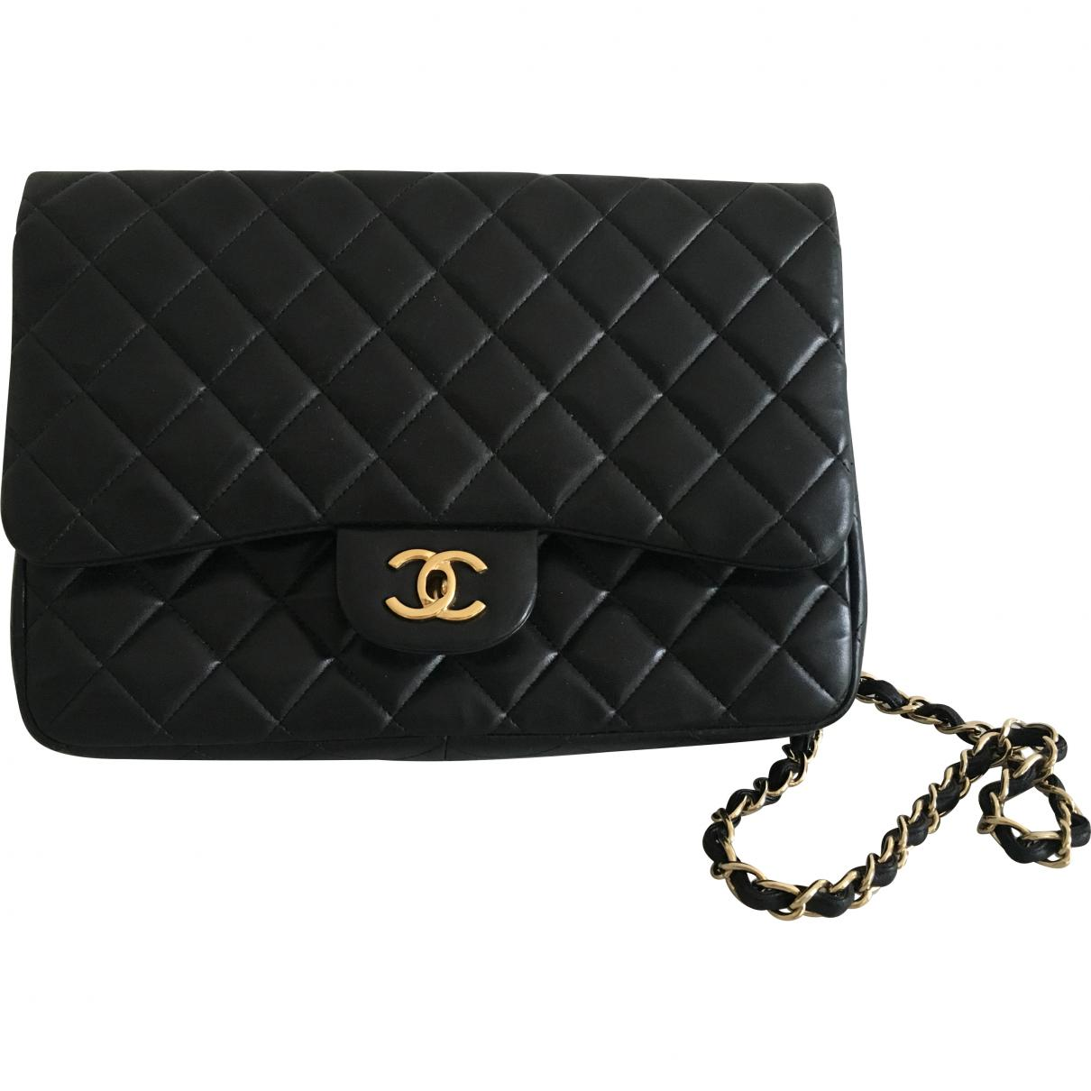 6f99be66aeedb1 Lyst - Chanel Timeless Leather Crossbody Bag in Black