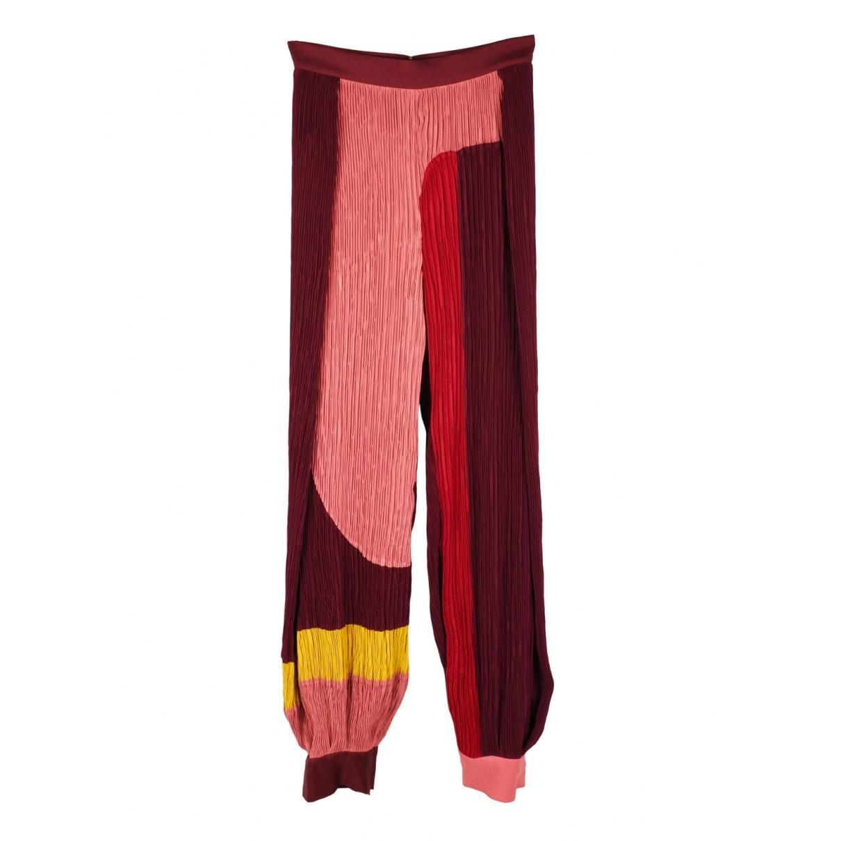 Pantalón en Poliéster Burdeos ROKSANDA de Tejido sintético de color Rojo: ahorra un 5 %