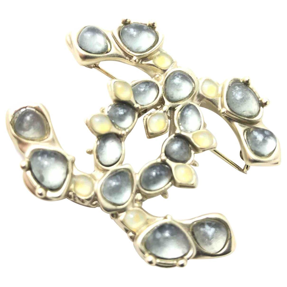 Lyst - Chanel Pin   Brooche in Metallic f69c08f4ff9