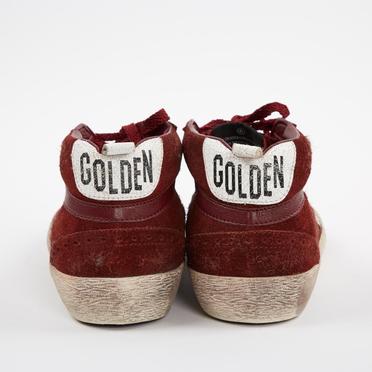Baskets en Suede Bordeaux Golden Goose Deluxe Brand en coloris Rouge JavT