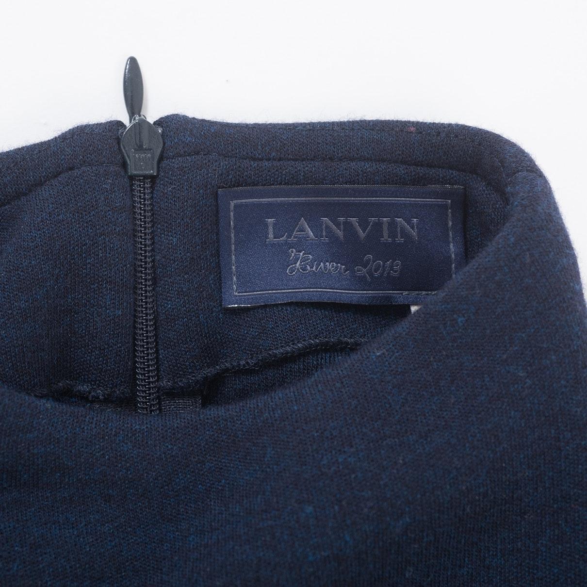 Vestido en lana antracita N Lanvin de Lana de color Azul