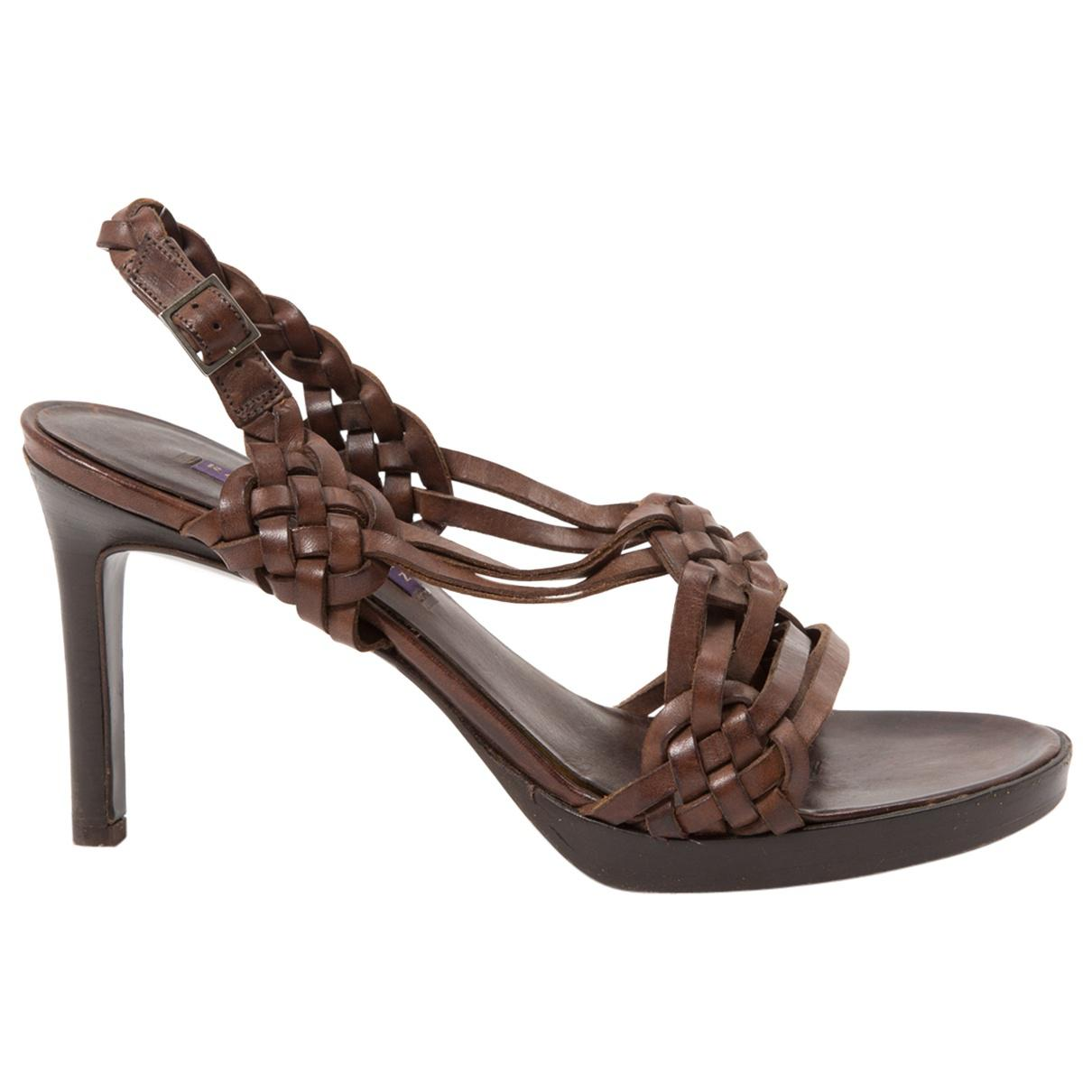 Pre-owned - Leather sandals Ralph Lauren WrmlgdFfY