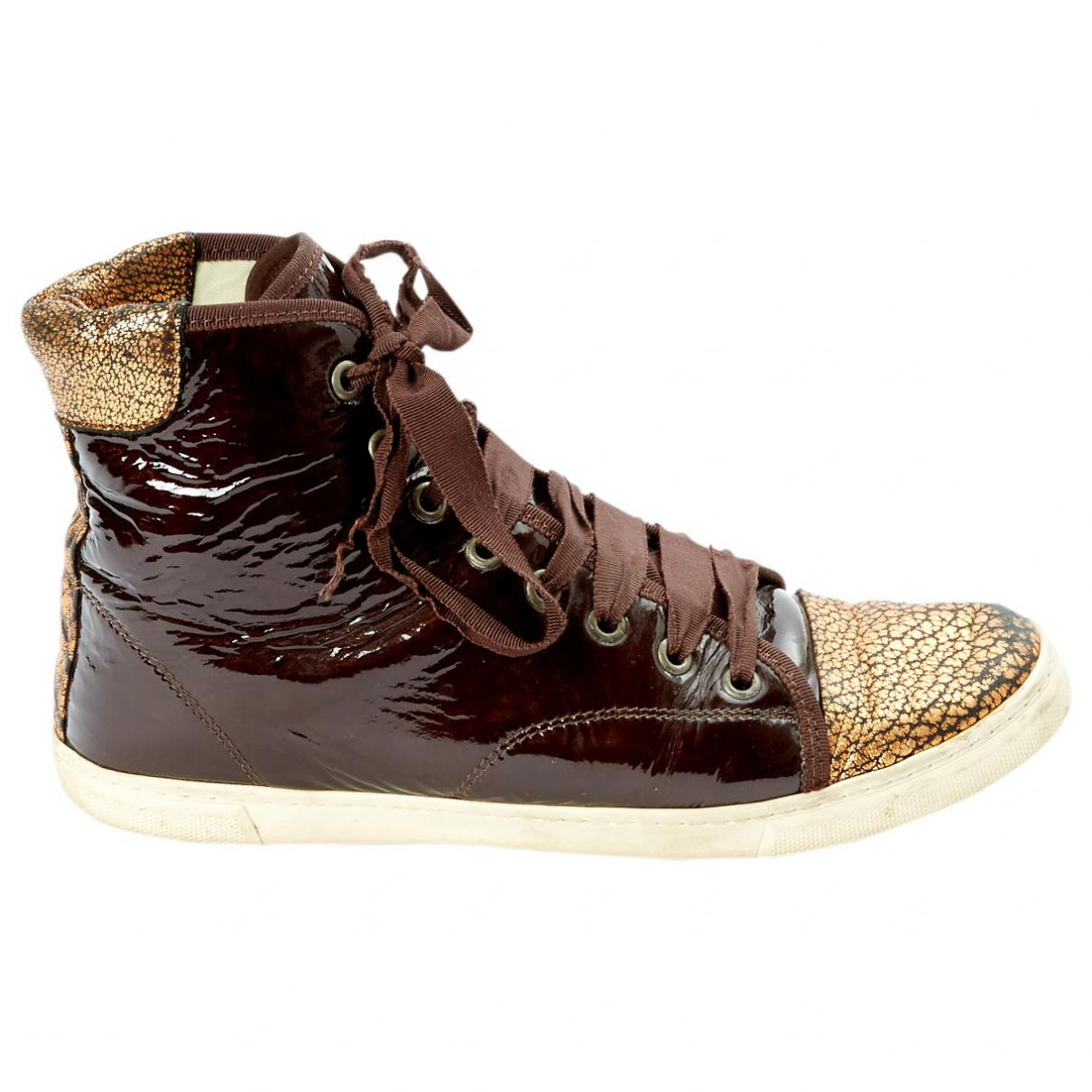 Pre-owned - Leather trainers Lanvin lF55oH