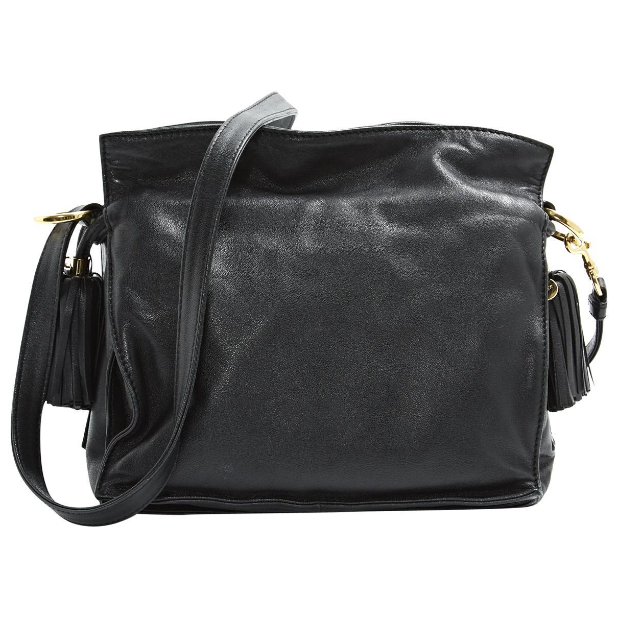eba55127947 Loewe Leather Handbag in Black - Lyst