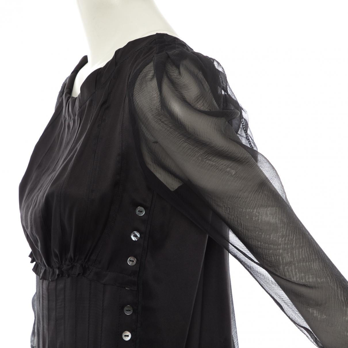 Mini vestido de Seda Nina Ricci de Seda de color Negro