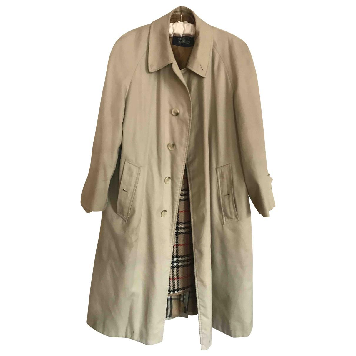a1b01baaa0a4 Lyst - Burberry Pre-owned Vintage Beige Cotton Trench Coat in Natural