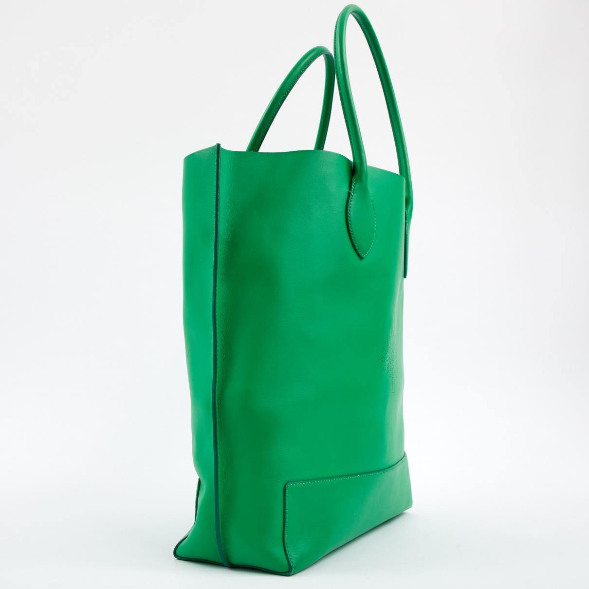 0115fdd4cb19 Mulberry - Green Leather Handbag - Lyst. View fullscreen