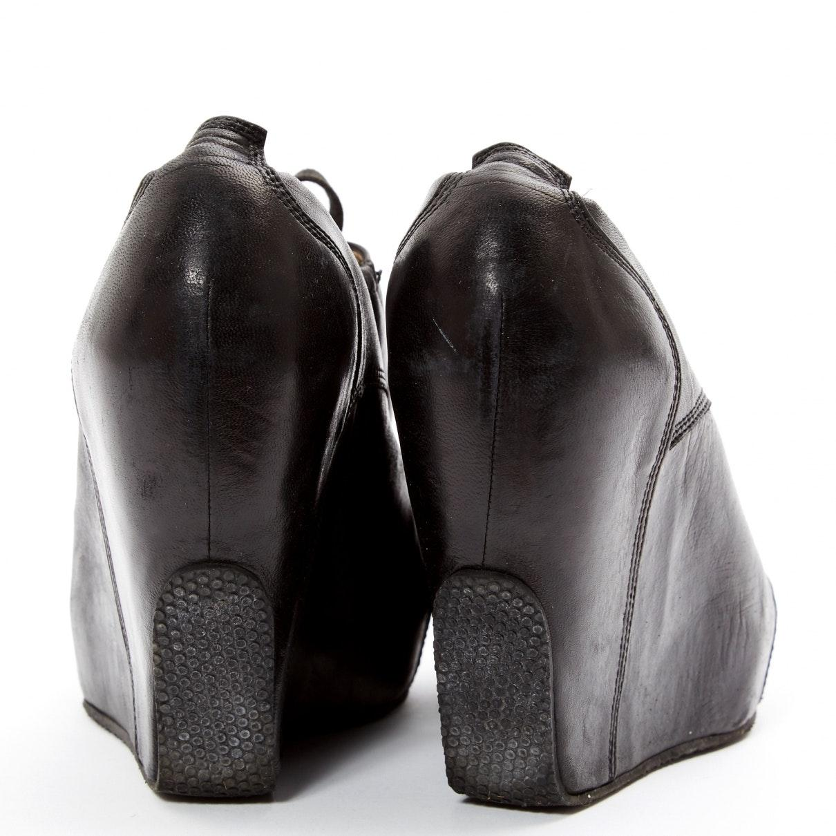 Botines de Cuero Dries Van Noten de Cuero de color Negro