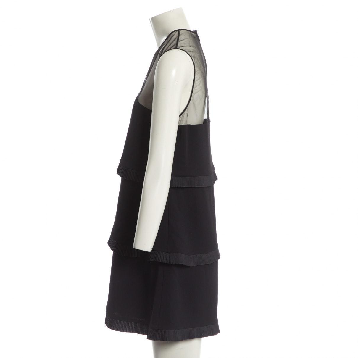 Mini vestido Stella McCartney de Tejido sintético de color Negro
