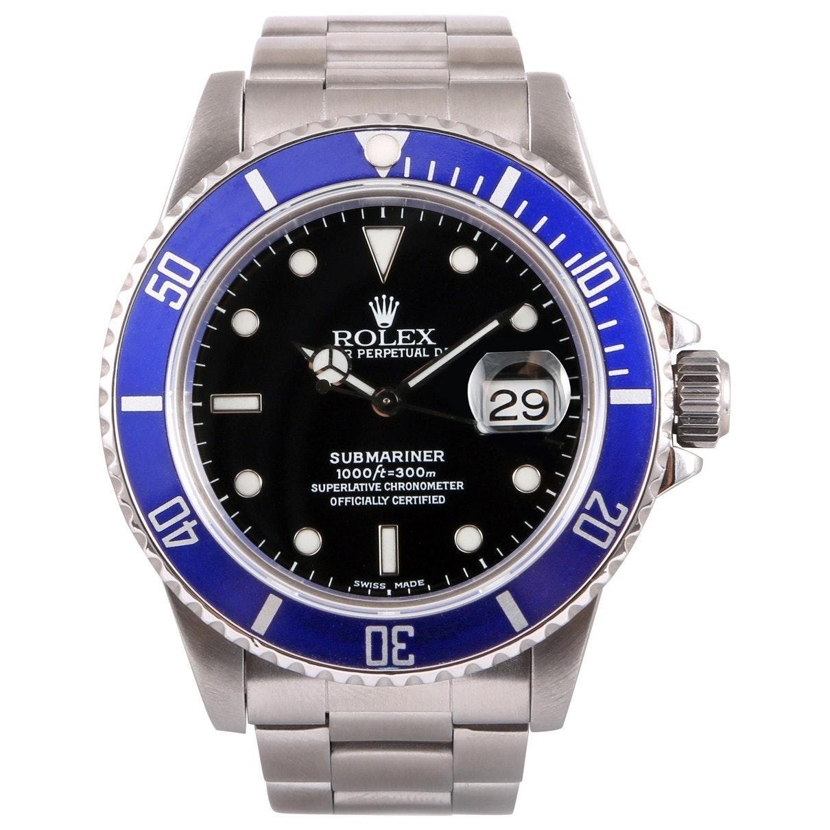 Acero Submariner Reloj Mujer En Azul De VqSULzMpG