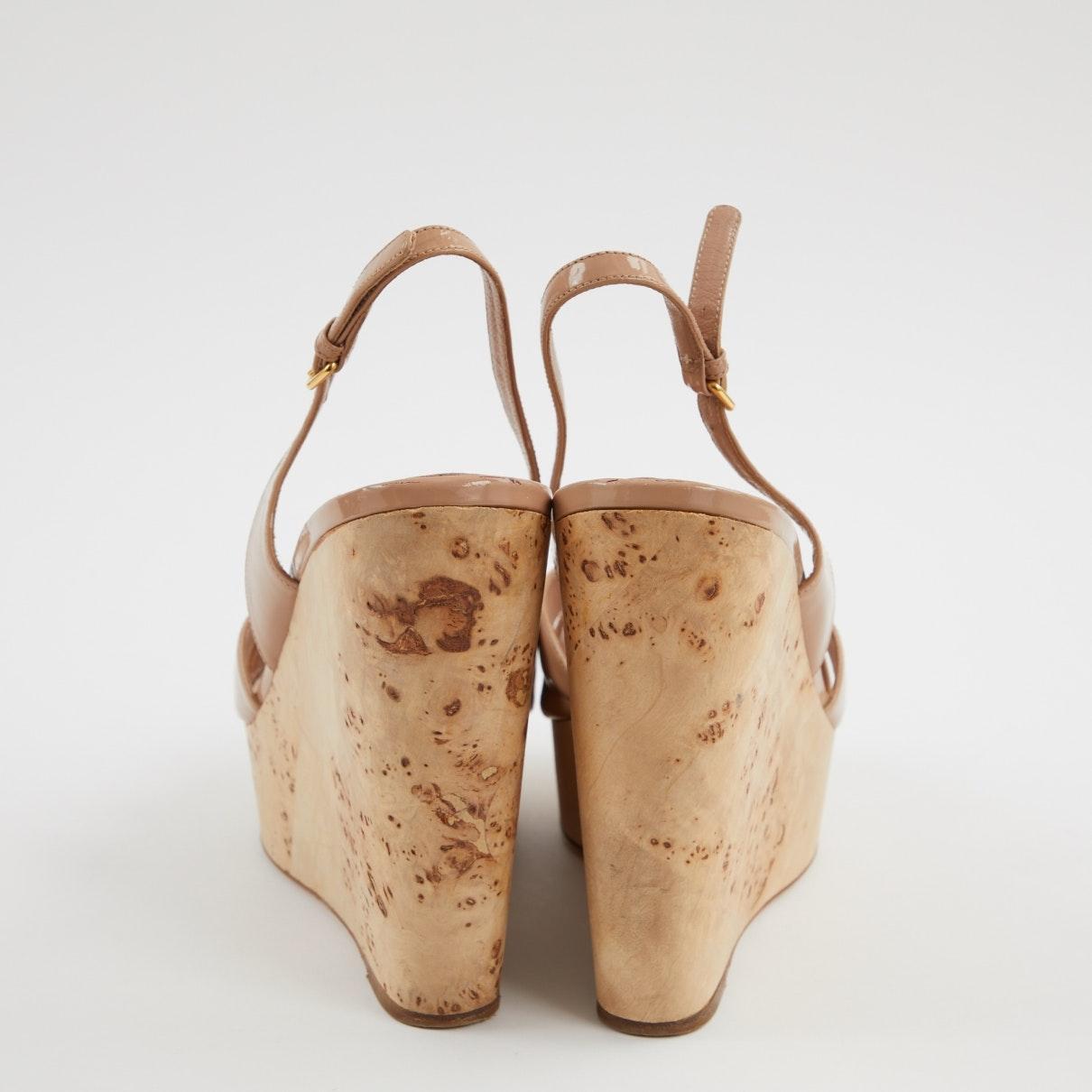 Sandales N en Cuir verni Rose Miu Miu