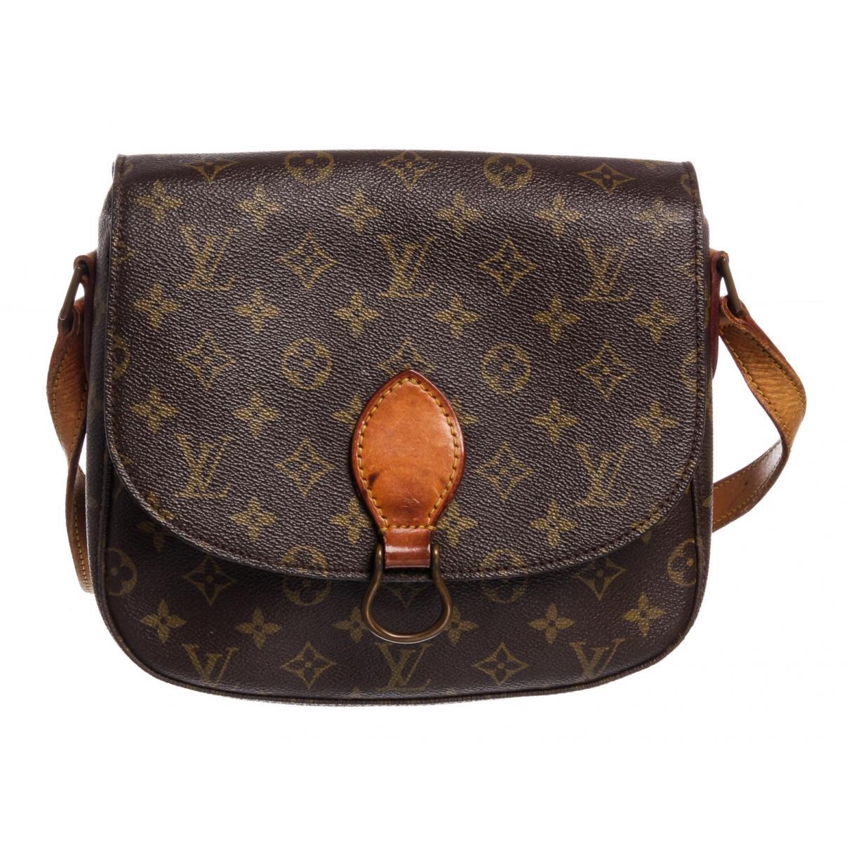 d7124c7ee79d Lyst - Louis Vuitton Pre-owned Saint Cloud Brown Cloth Handbags in Brown