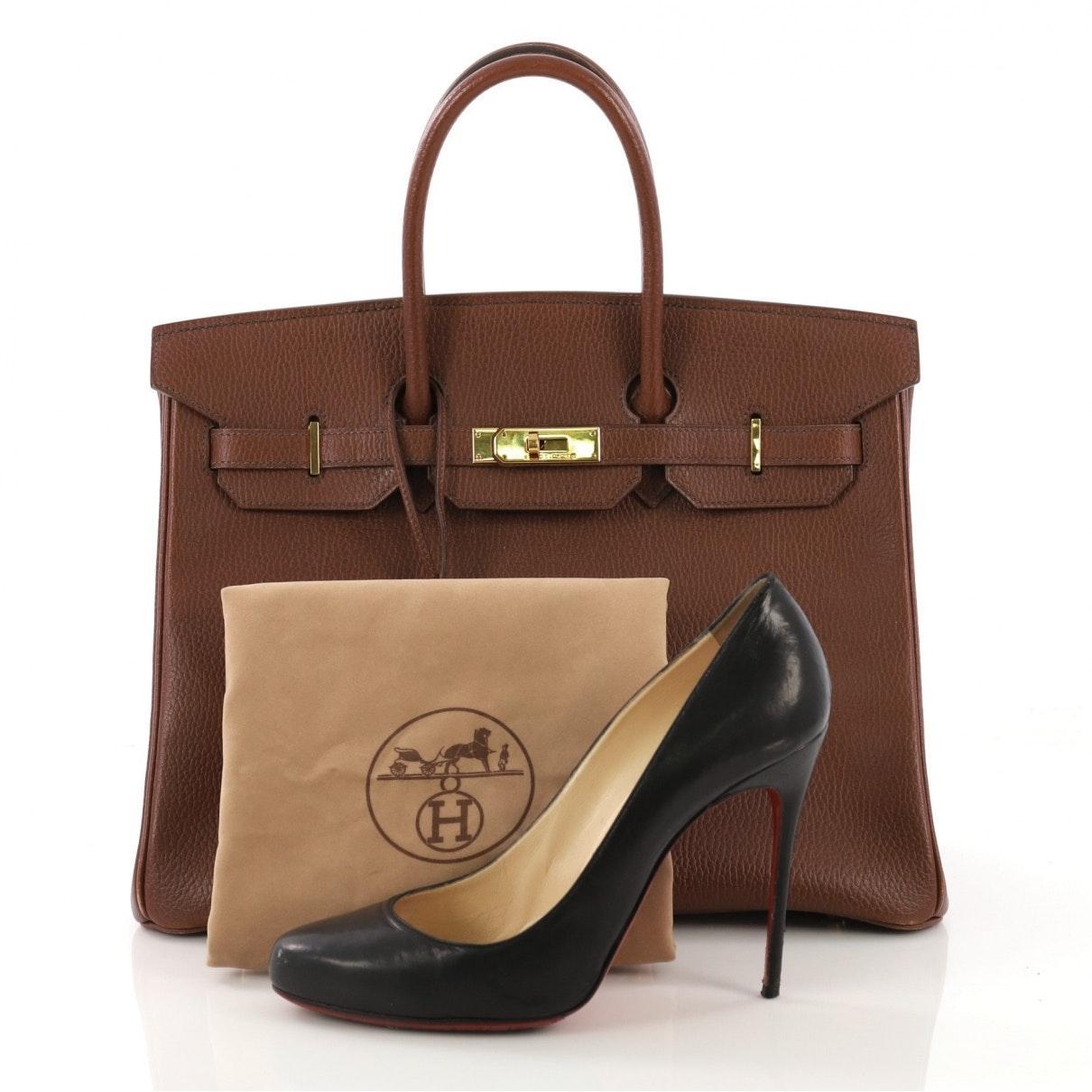 Sac à main Birkin 35 en Cuir Marron Hermès en coloris Marron zCsZ