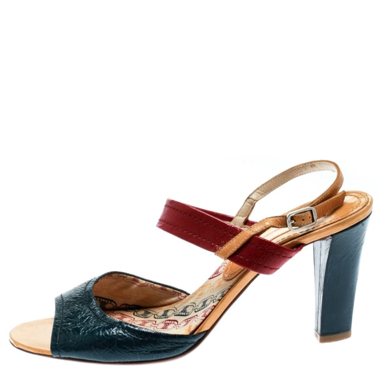 Sandales en Cuir Multicolore en Cuir Celine