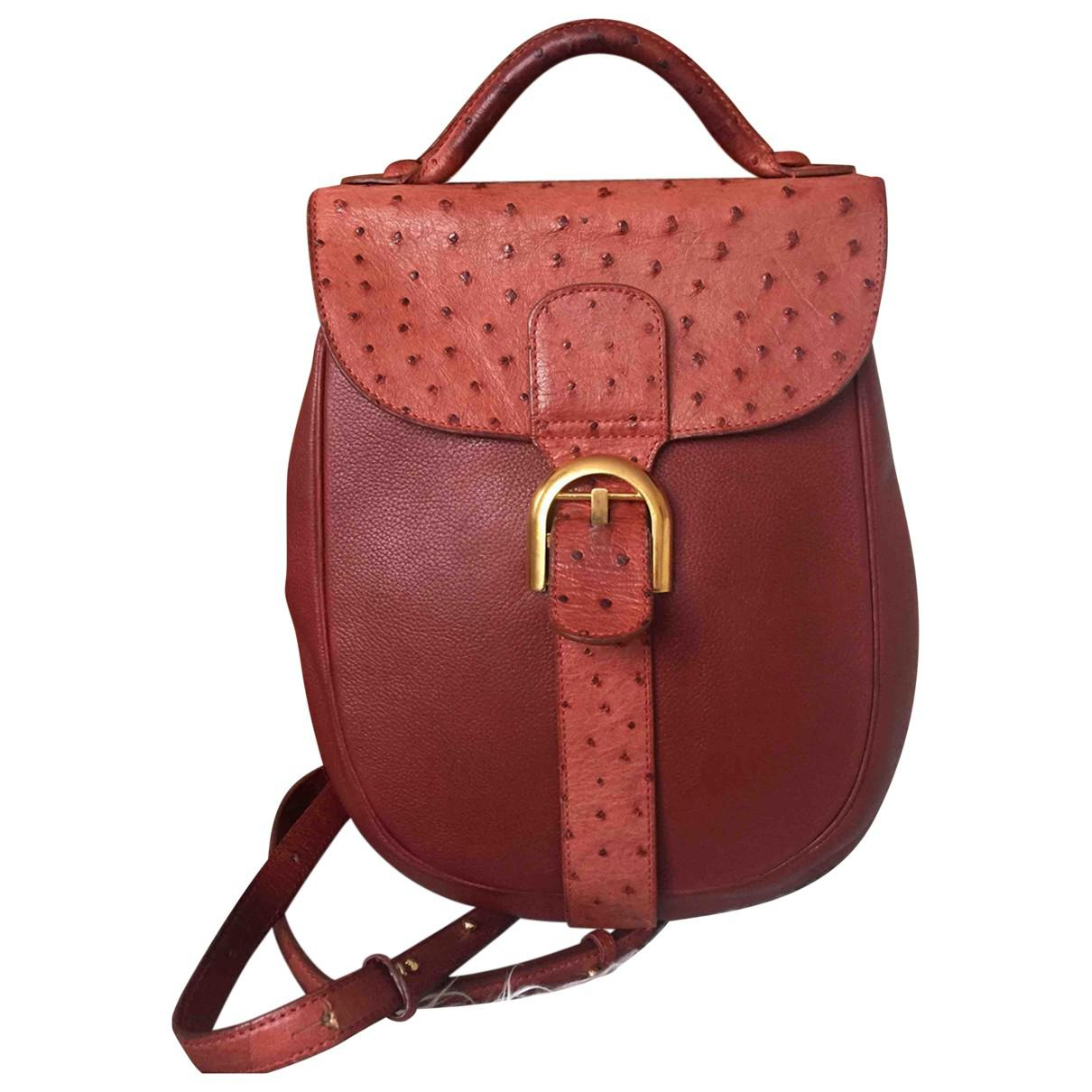 31871c00884d Delvaux. Women's Vintage Le Brillant Red Ostrich Backpacks. £501 From Vestiaire  Collective