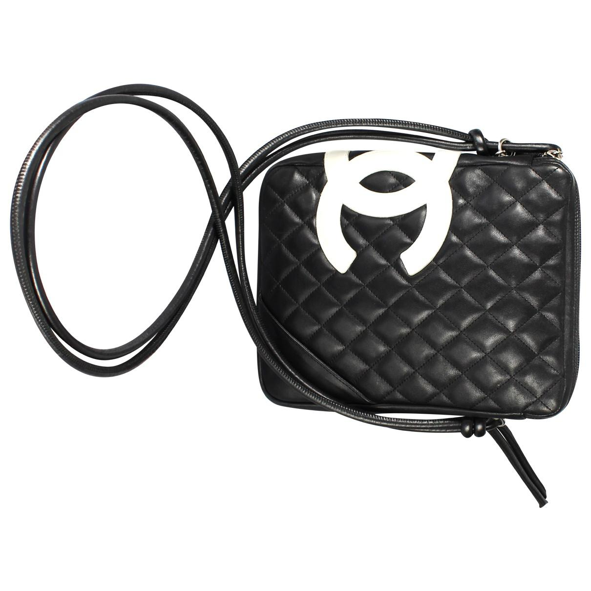 d20661689be7 Chanel Cambon Leather Crossbody Bag in Black - Lyst