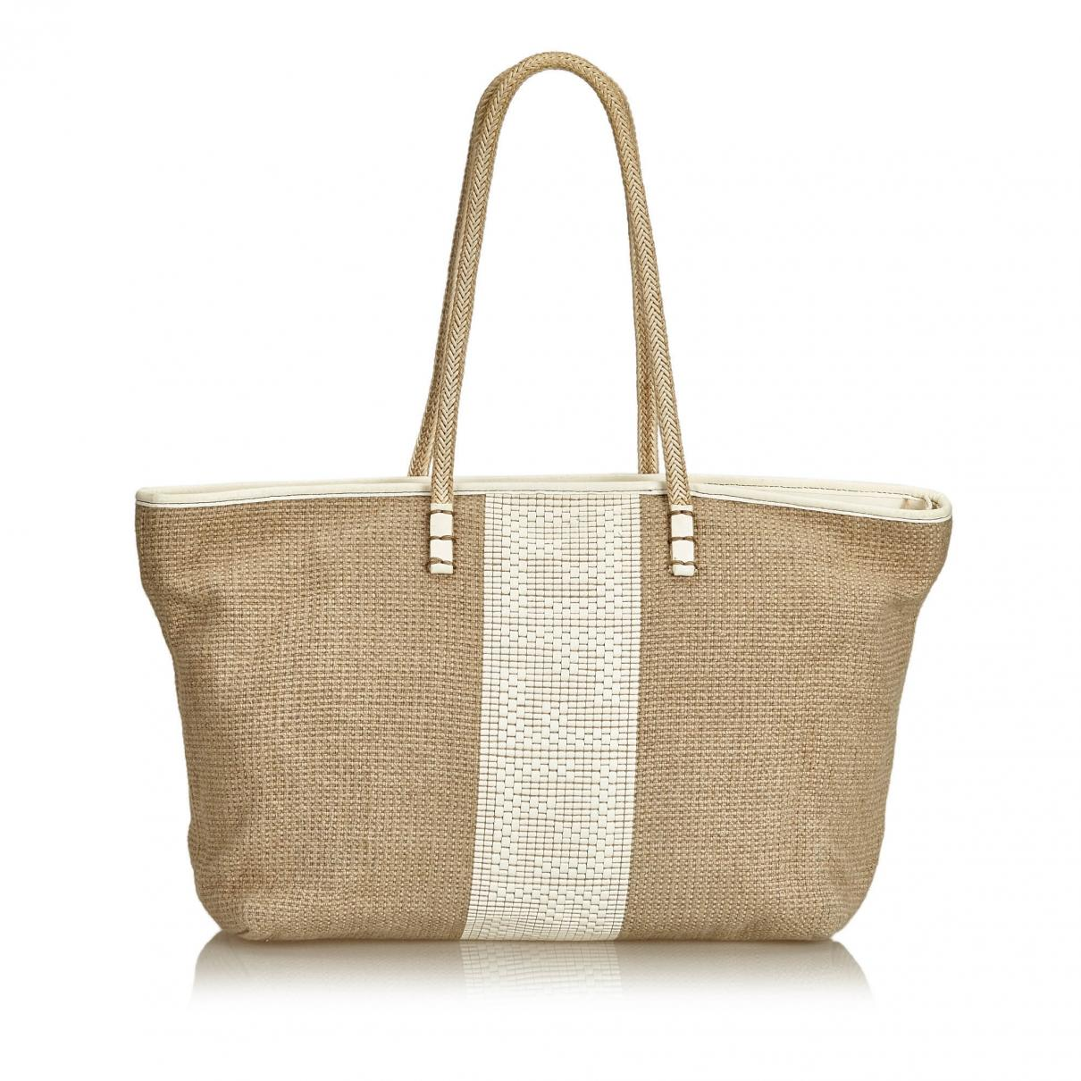 Brown Cloth Lyst Tote Fendi In CrxBoed