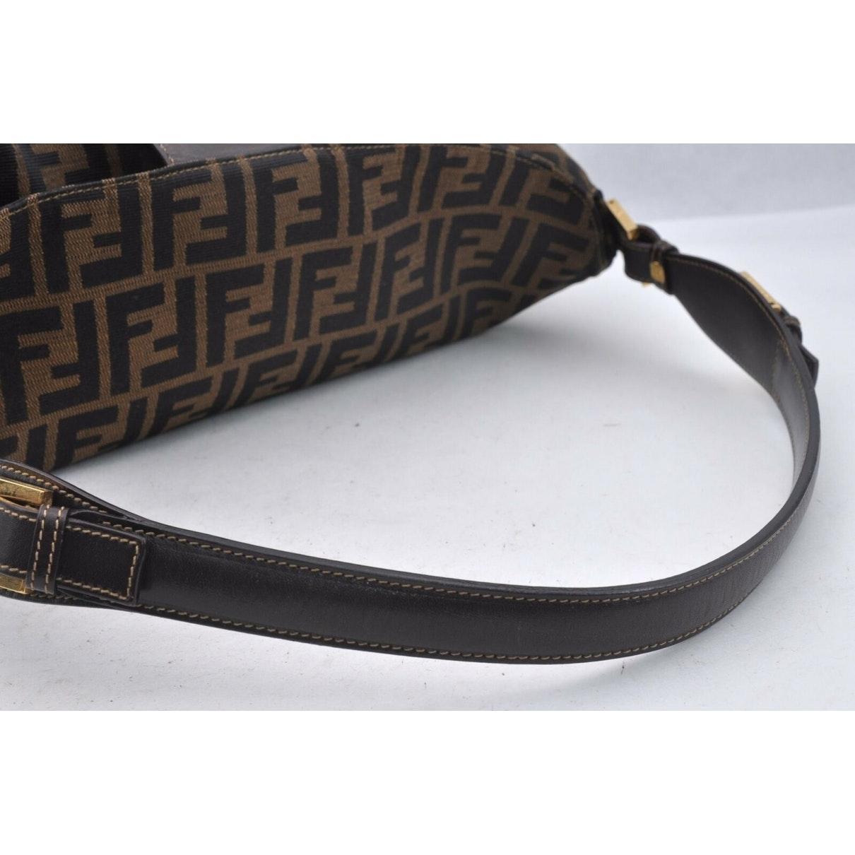 Fendi Leinen Handtaschen in Braun tEJpG
