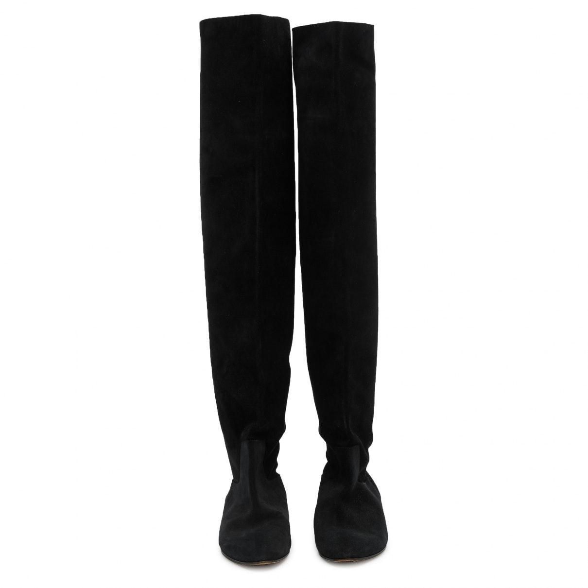 Botas en ante negro Chloé de Ante de color Negro