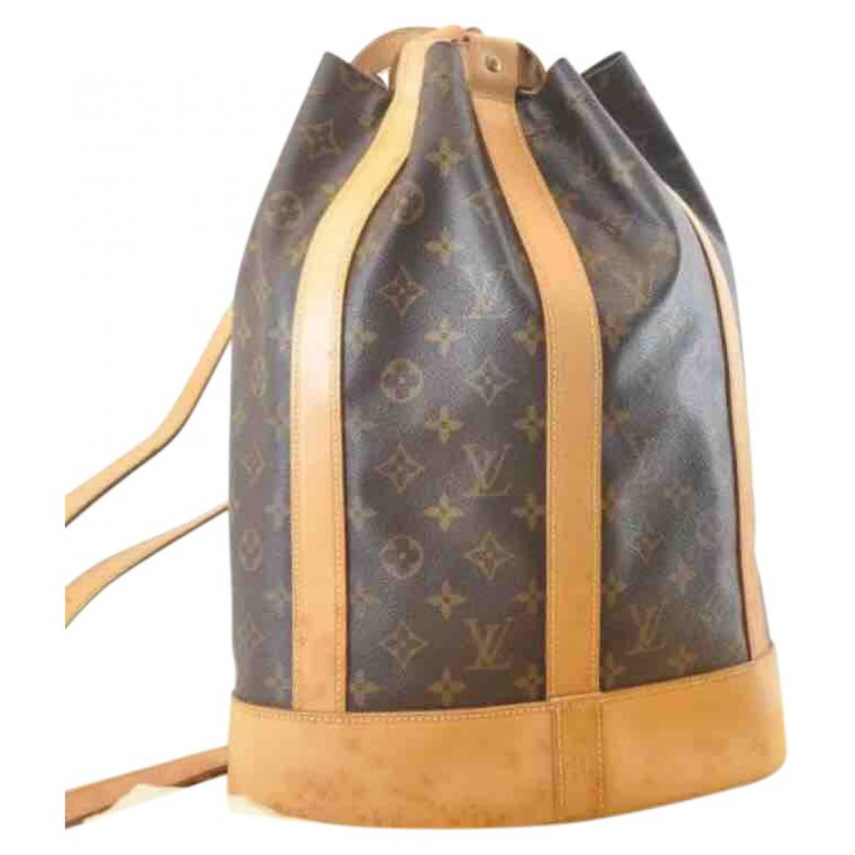 e4873de97539 Lyst - Louis Vuitton Pre-owned Vintage Brown Leather Backpacks in Brown