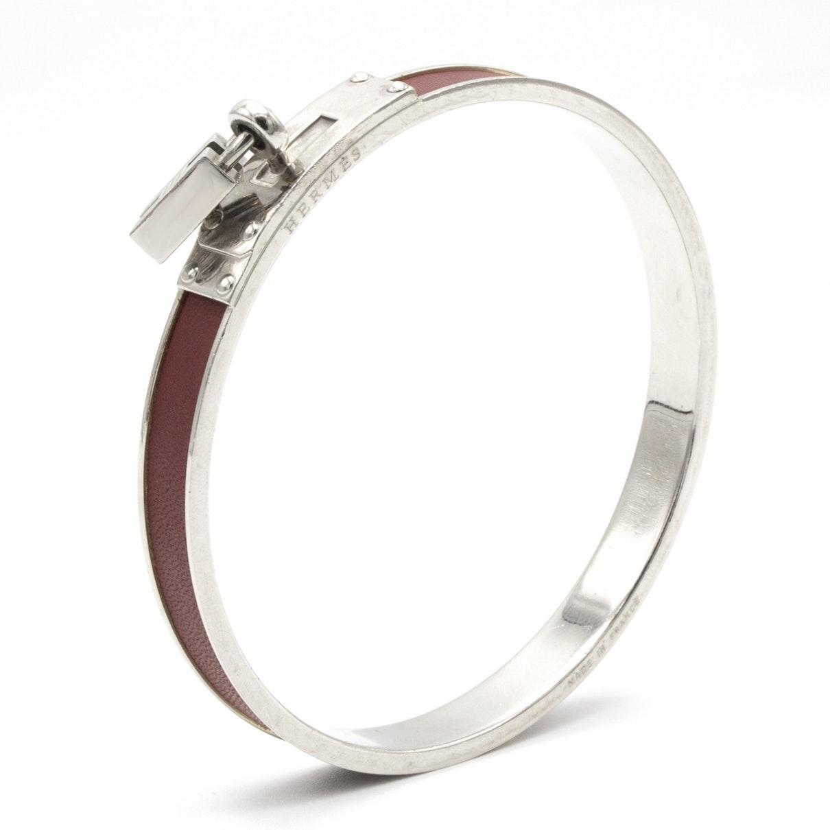 Braccialo in metallo argentato Kelly di Hermès