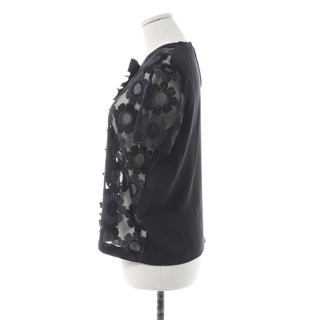 Camisa en algodón negro Fendi de Algodón de color Negro
