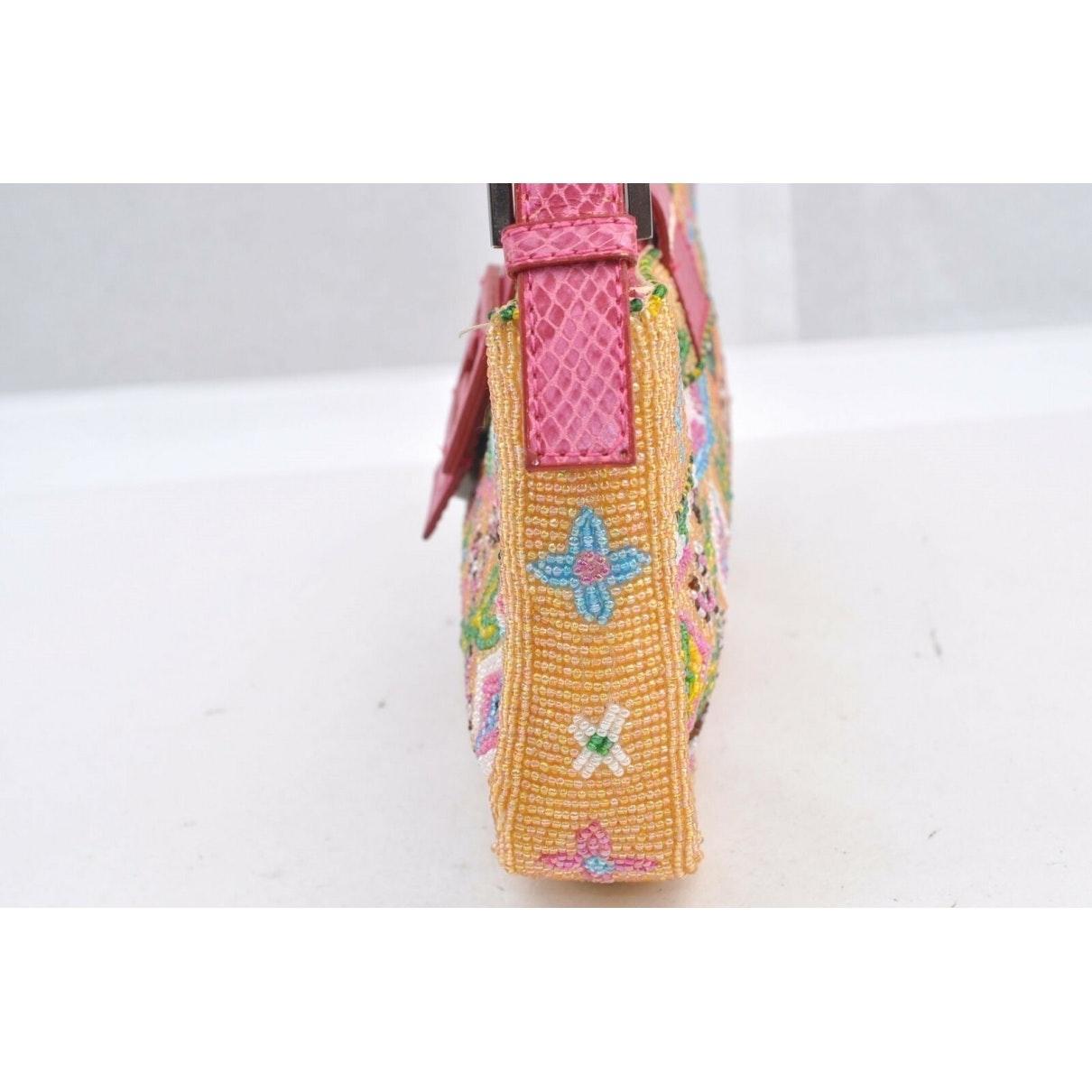 Sac à main en Plastique Jaune Fendi en coloris Rose wh2y