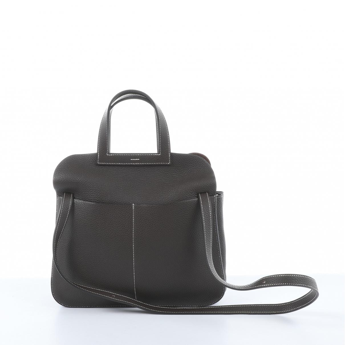 d71f84345fc3 Hermès - Brown Halzan Leather Handbag - Lyst. View fullscreen