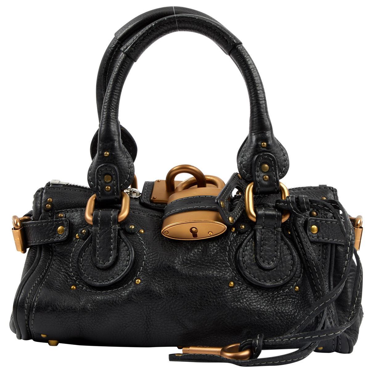 818e8a641f67 Chloé Paddington Leather Bag in Black - Lyst