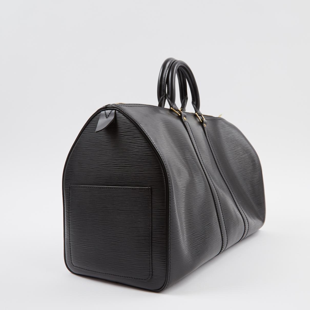 ff464f008a3a Louis Vuitton - Black Keepall Leather Bag for Men - Lyst. View fullscreen
