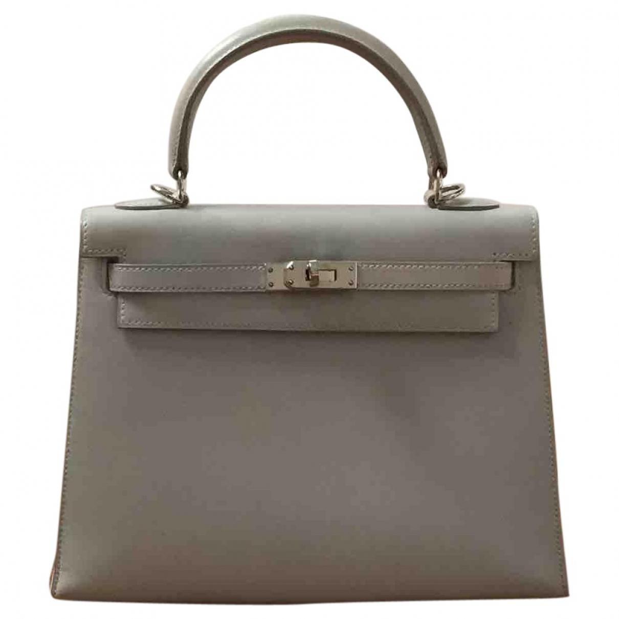 1e087eecd484 Lyst - Hermès Pre-owned Kelly 25 Leather Handbag in Gray