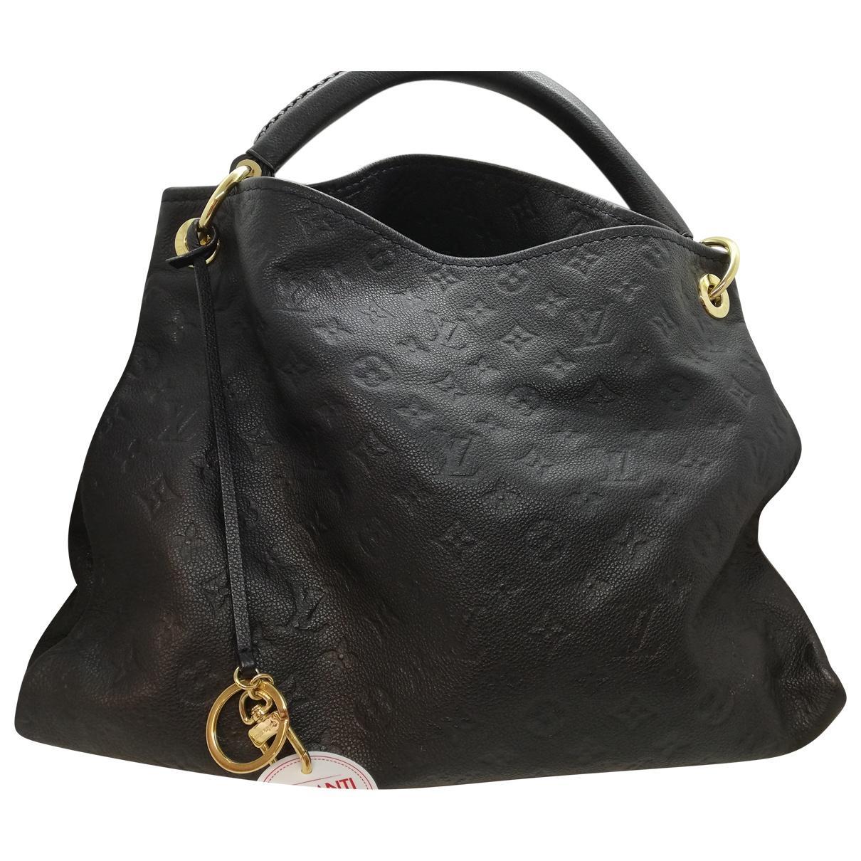 145fcb55d599 Lyst - Louis Vuitton Pre-owned Artsy Leather Handbag in Black