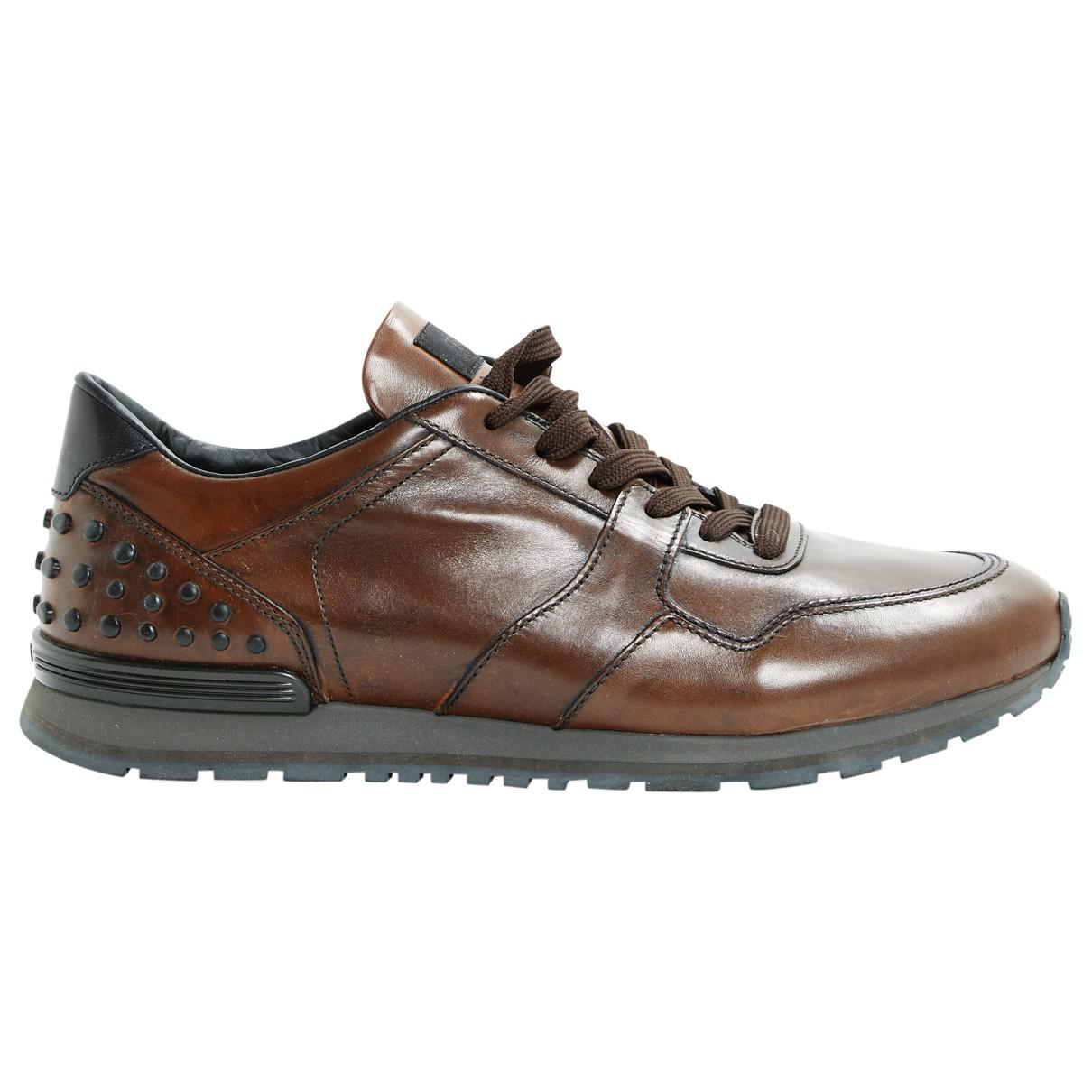 Pre-owned - Leather low trainers Tod's TcUAG