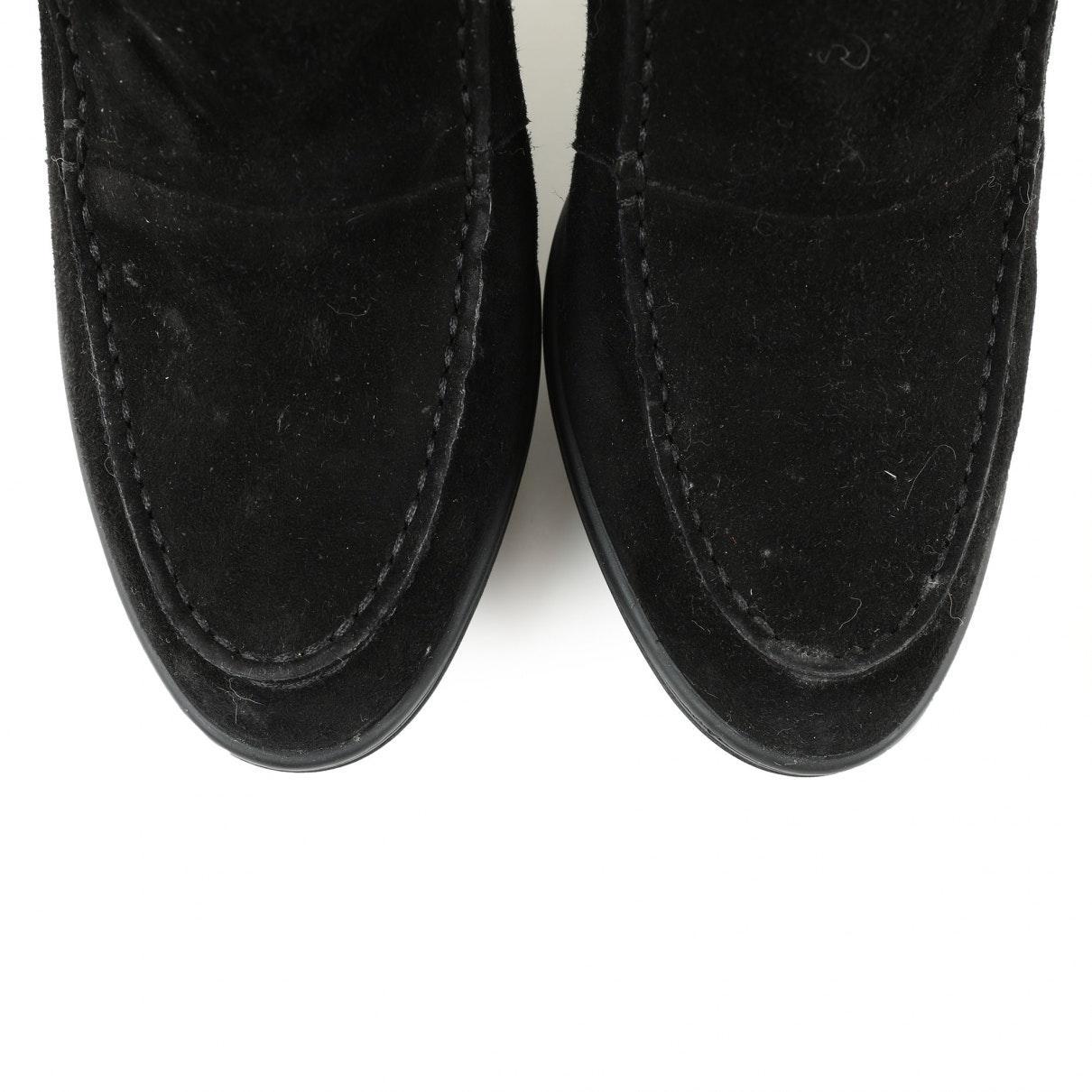 Botas en ante negro Tod's de Ante de color Negro