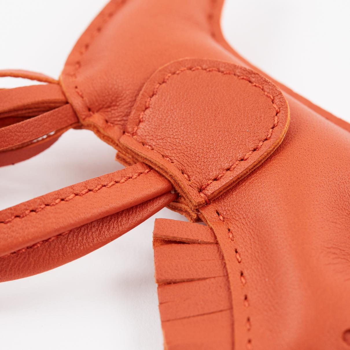 Bijou de sac Rodeo en cuir Cuir Hermès en coloris Orange