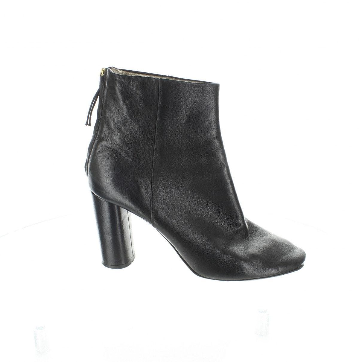 Botines en cuero negro Isabel Marant de Cuero de color Negro