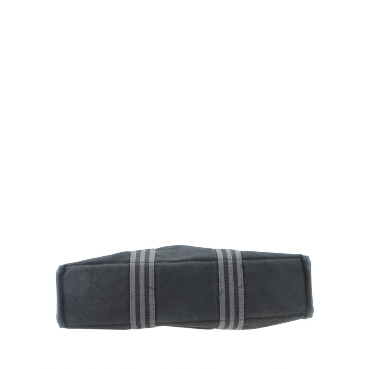 Sac à main Toto en Toile Noir Hermès en coloris Noir hzK1