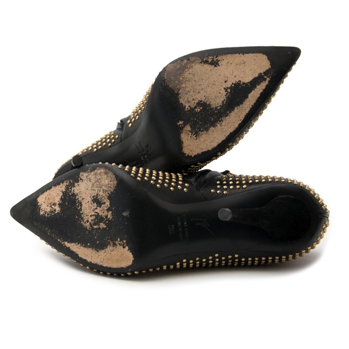 Botas en cuero negro N Giuseppe Zanotti de Cuero de color Negro
