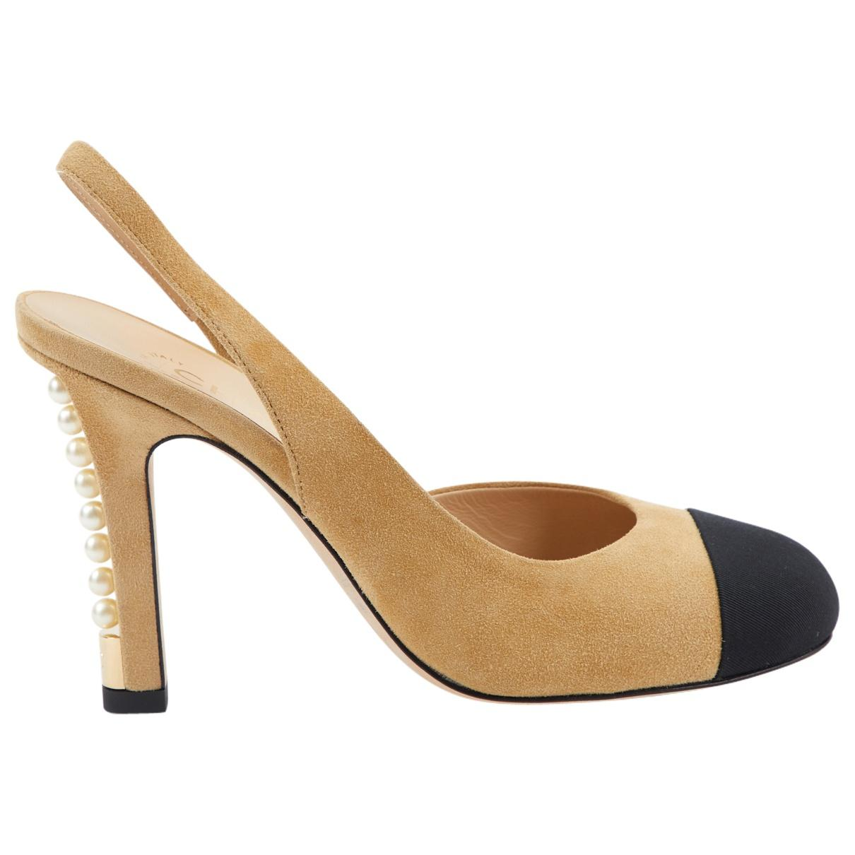 1ef24e857f8 Chanel. Women s Natural Slingback Heels. £442 From Vestiaire Collective