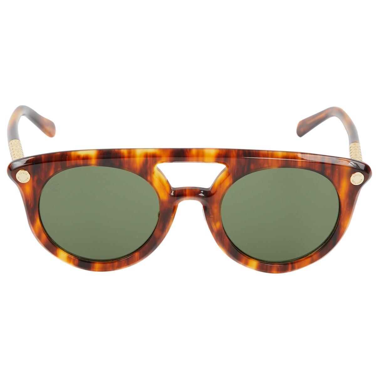 dc4dd5b4ede0 Louis Vuitton Aviator Sunglasses in Brown - Lyst