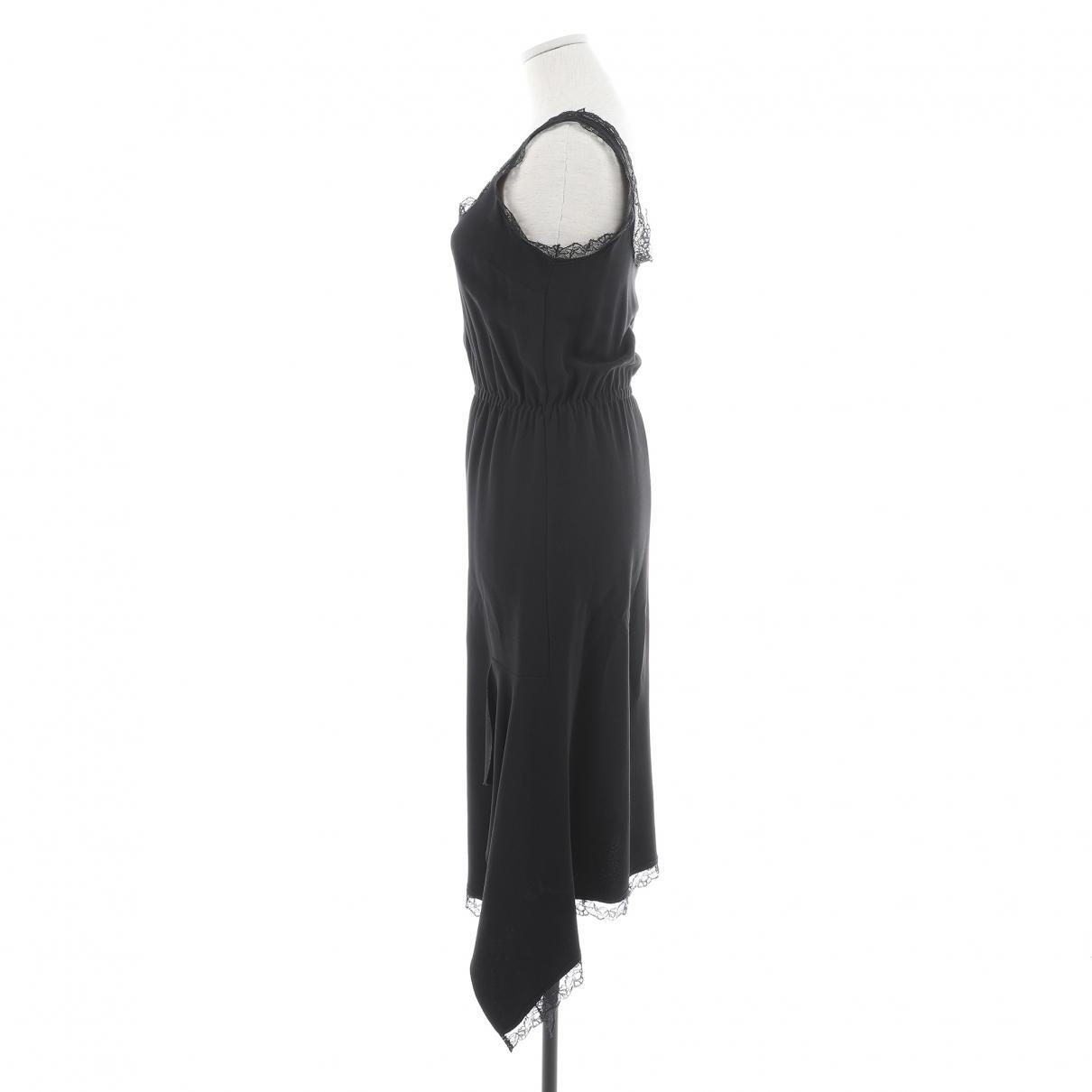 Robe mi-longue Synthétique Miu Miu en coloris Noir