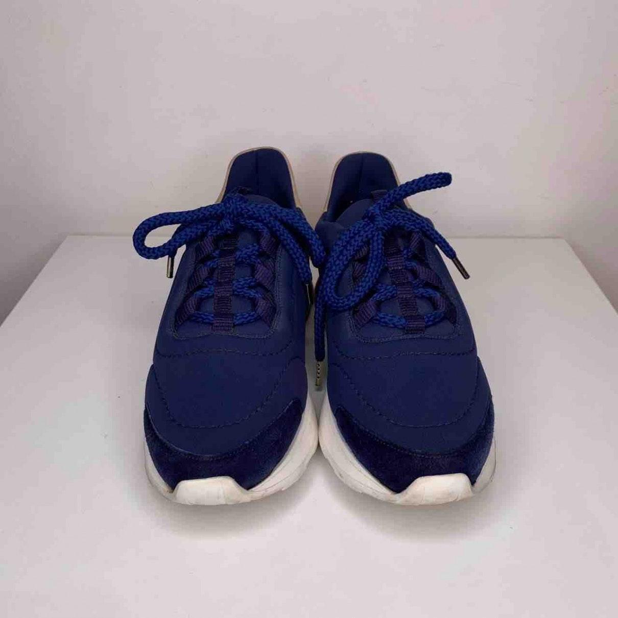 Baskets en Toile Marine Hermès en coloris Bleu 1hYZ