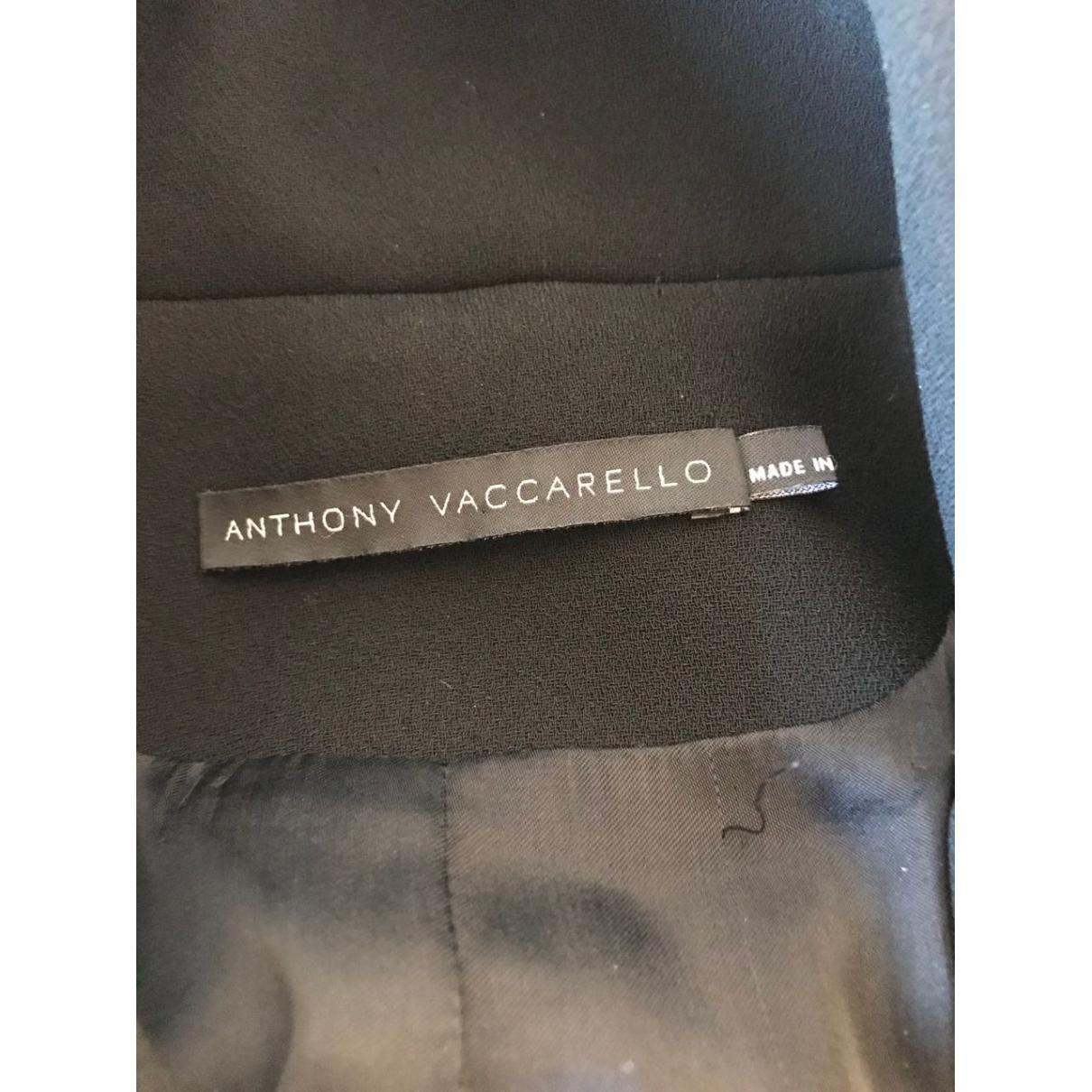 Chaqueta corta Anthony Vaccarello de Tejido sintético de color Negro