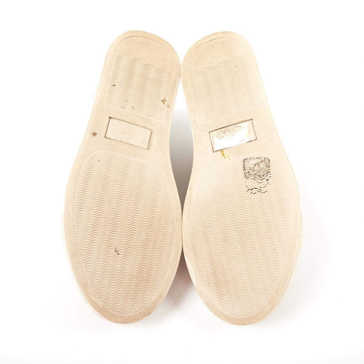 Deportivas en piel de potro de imitación beige Charlotte Olympia de Cuero de color Neutro
