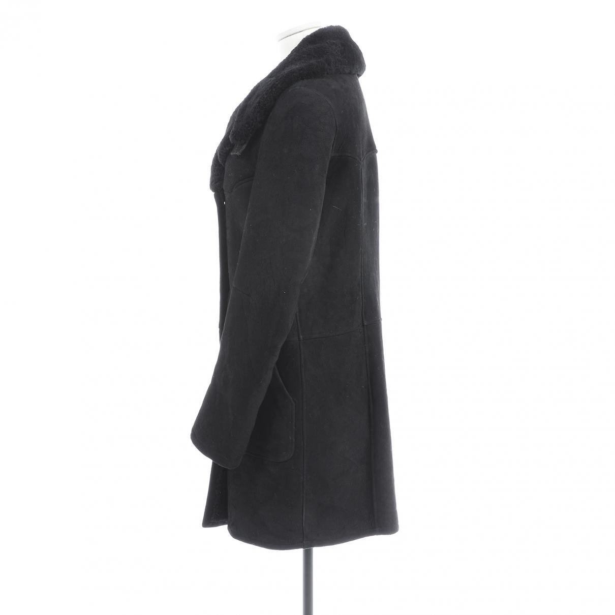 Manteau en cuir Cuir Balmain en coloris Noir SnW1s