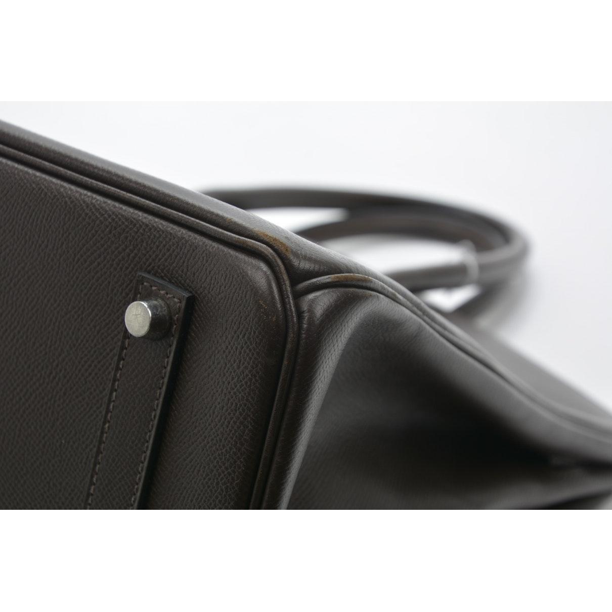 Sac à main Birkin 35 en Cuir Marron Hermès en coloris Noir QEh7