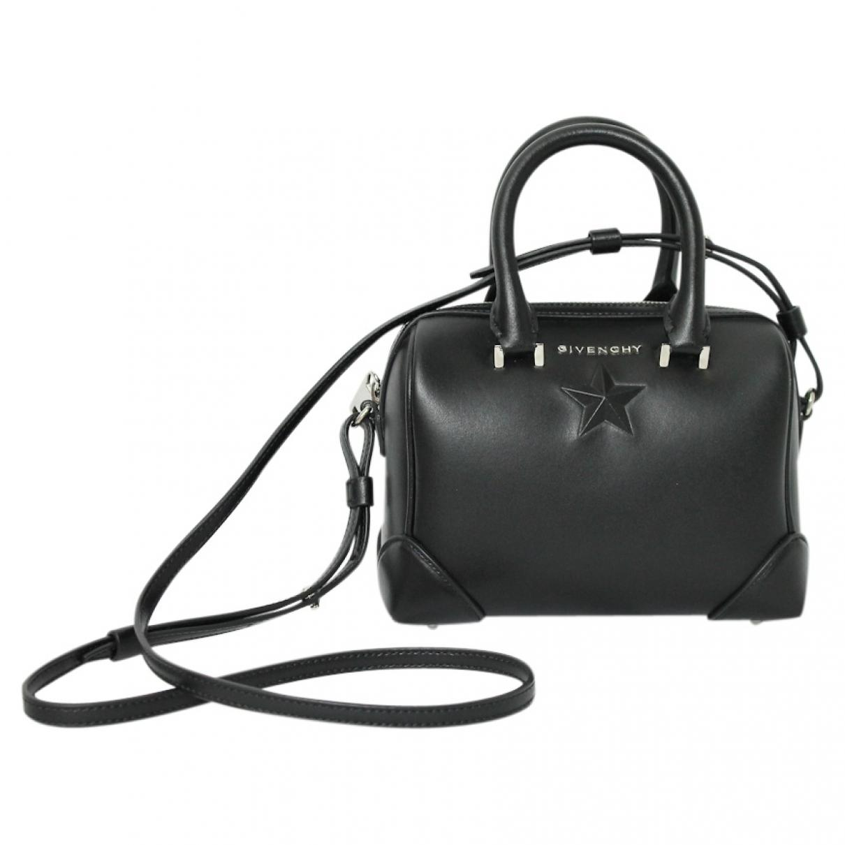 b8daa5588850 Givenchy Pre-owned Black Leather Handbags in Black - Lyst