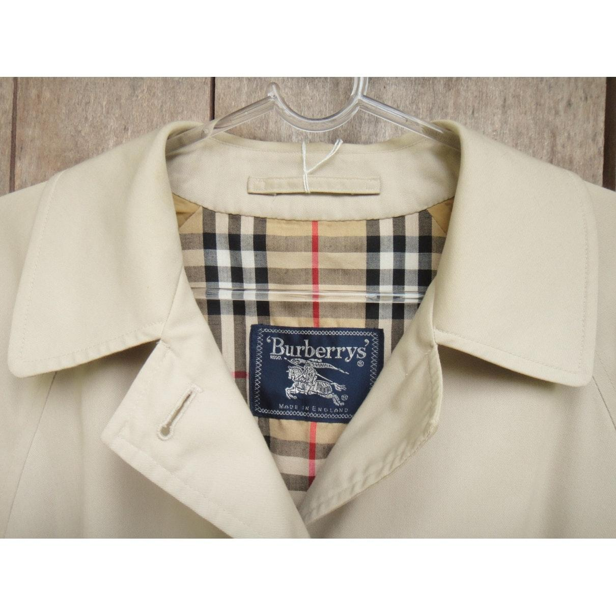 Mantel en Coton Beige Coton Burberry en coloris Neutre WbPrY